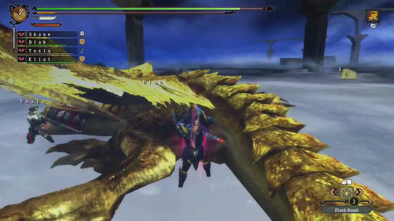 MH3U - Gold Rathian and Silver Rathalos (G-Rank Quest ... Gold Rathian And Silver Rathalos