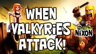 Clash of Clans Let's Play Episode #10 - (In HD) 25 Valkyrie Attack, First Look!