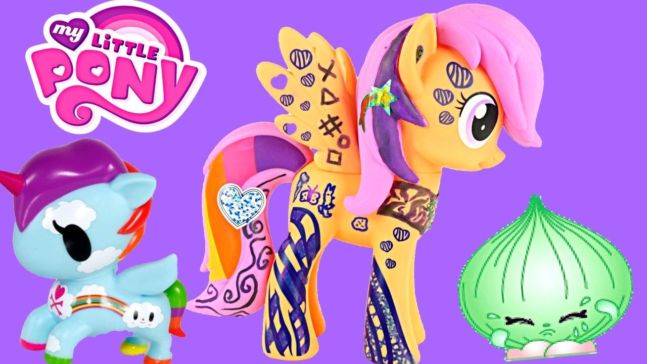 My Little Pony ScootaLoo Design A Unicorno Frenzies Shopkins Coloring MyLittlePony Toys