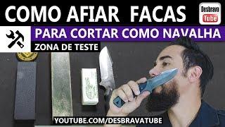 Como afiar facas e canivetes para cortar como navalha - (unbox strop) - Zona de Testes #zonadetestes