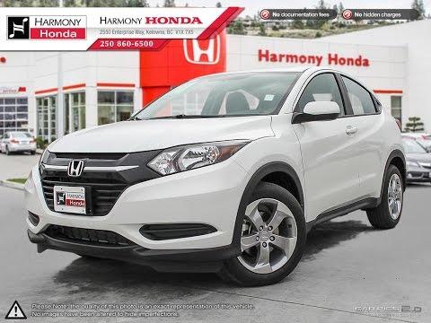 2017 Honda Hrv Lx Harmony White U5555 Kelowna Bc