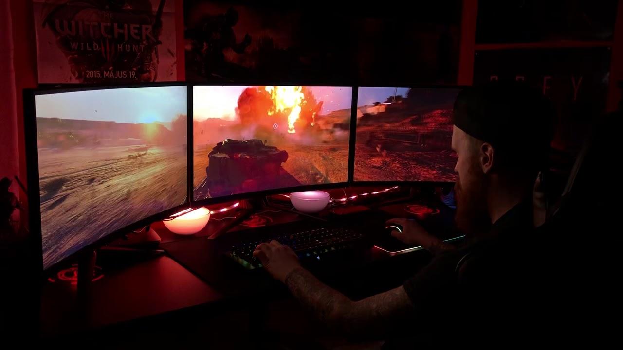 Battlefield V with 3 monitors   5860x1080 @ RTX 2080