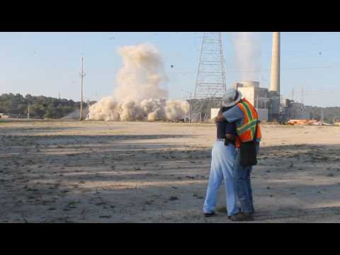 Implosion of Unit 2 at Big Sandy Power Plant in Louisa