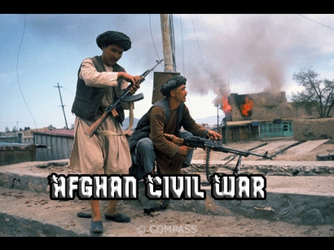 Afghan Civil War 1992-96 -  Real combat footage with music