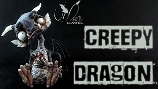 Creepy & Spooky Dragon Clay Tutorial Living Doll Super Sculpey 3D Pen and Fimo