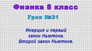 Физика 8 класс (Урок№31 - Инерция и первый закон Ньютона. Второй закон Ньютона.)