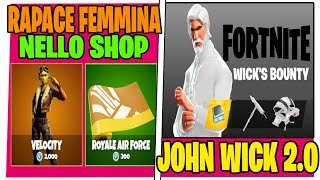 SFIDE JOHN WICK FORTNITE SHOP 12 MAY SKIN VELOCITy