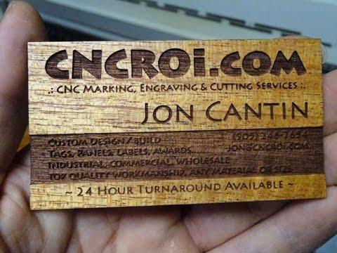 Custom cnc laser veneer business cards youtube custom cnc laser veneer business cards colourmoves