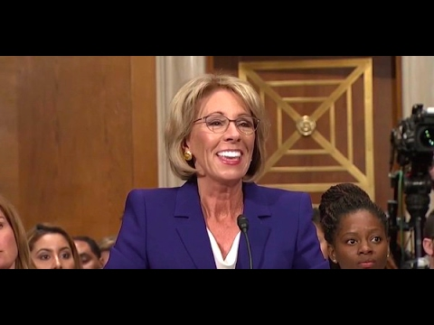 STUPID Betsy Devos CONFIRMED As Next Education Secretary - Pence And Betsy Are Idiots (Grizzly Bear)