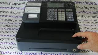 For more information visit: https://www.shopstuff.co.uk video demonstration of how to open the cash drawer on a casio se-g1 register when it appears ...