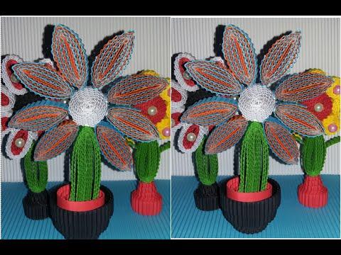 DIY a simple flower from corrugated paper / kokoru paper