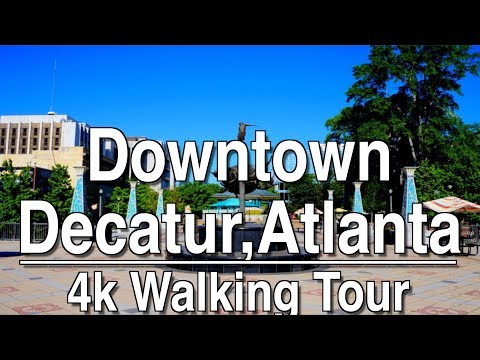 Walking Tour of Downtown Decatur Atlanta | 4K Dji Osmo