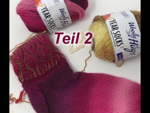Youtube-Tutorial: Socken im Relief Patent Stricken - Einfach - Teil 2