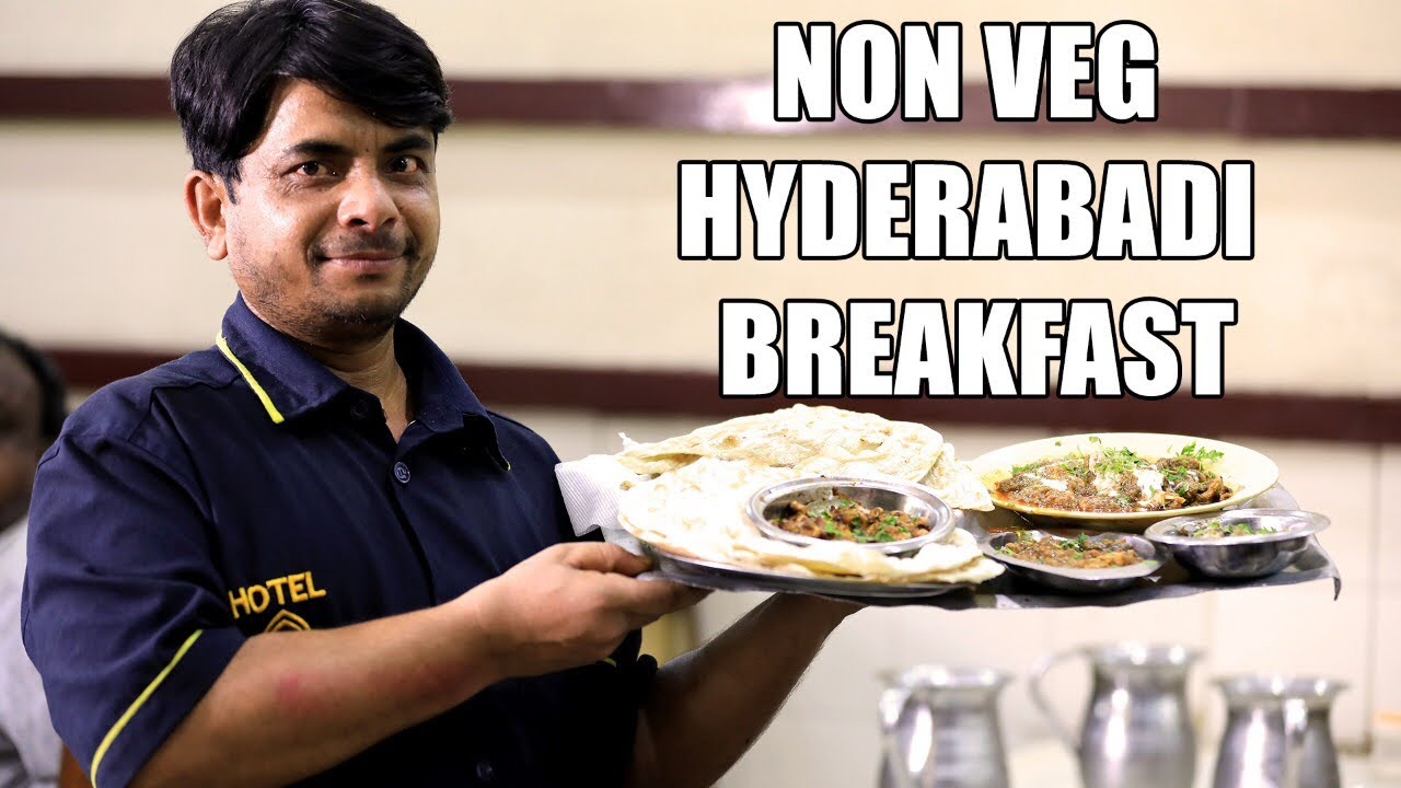Download NON VEG Breakfast in Hyderabad | Must try Dishes at Iconic Hotel Nayab | Malai Paya