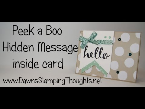 Peek a Boo Hidden Message card  with Hello Sale a Bration stamp set from Stampin'Up!