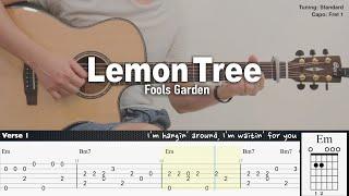 Lemon Tree - Fools Garden | Fingerstyle Guitar | TAB + Chords + Lyrics