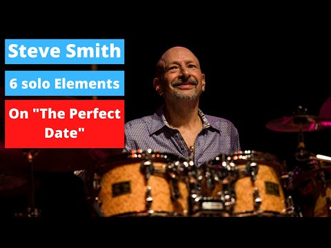 "Steve Smith - 6 Key Drum Solo Elements On ""The Perfect Date"" (Drum Cover & Lesson)"