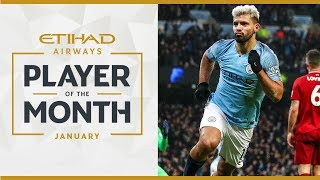 ETIHAD PLAYER OF THE MONTH | Sergio Aguero | January