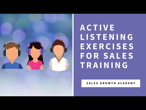Active Listening Exercise for Sales Training | Charles Bernard