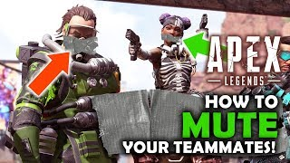 How to MUTE your teammates in Apex Legends