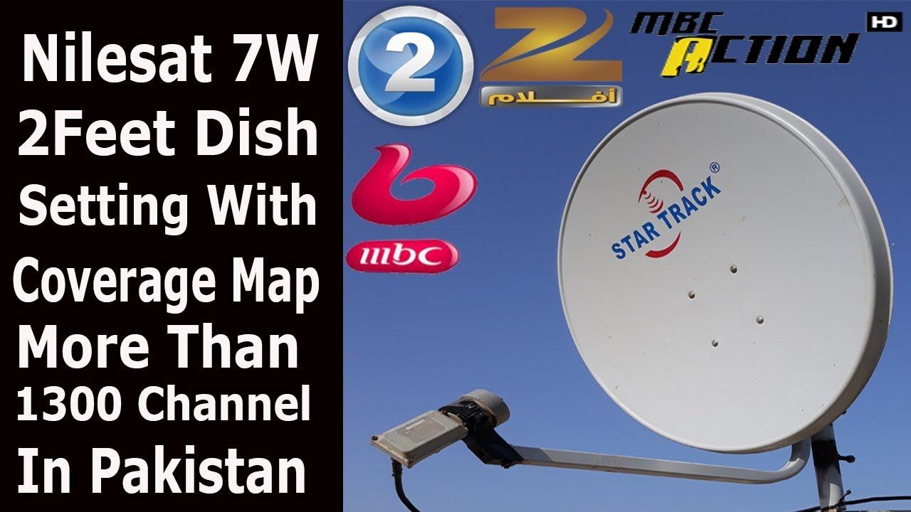 Nilesat 7W 2Feet Dish Full Setting in Pakistan India
