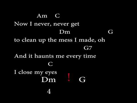 When i was your man (Easy Chords and Lyrics)