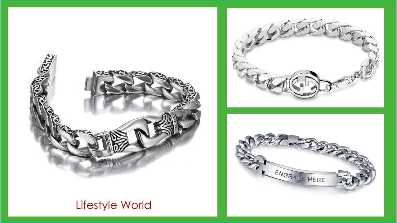 Top 30 Men Bracelets Silver Latest Silver Bracelet Designs For Mens 2018