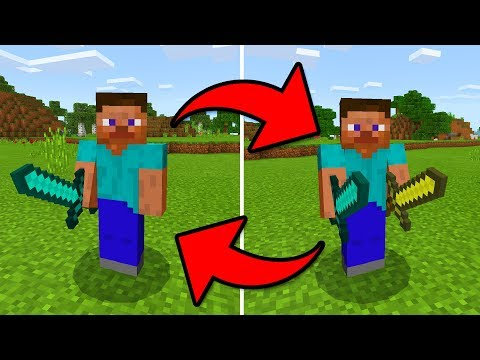 HOW TO DUAL WIELD in MCPE 1.2!?! - Minecraft Pocket Edition