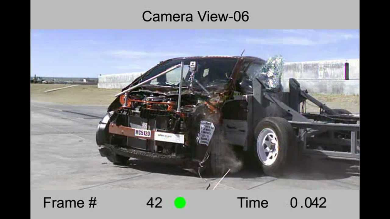 Toyota Scion Iq 2012 Side Crash Test Hi Speed Cam