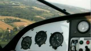 Panorama Wrocławia z pokładu samolotu – lot widokowy video