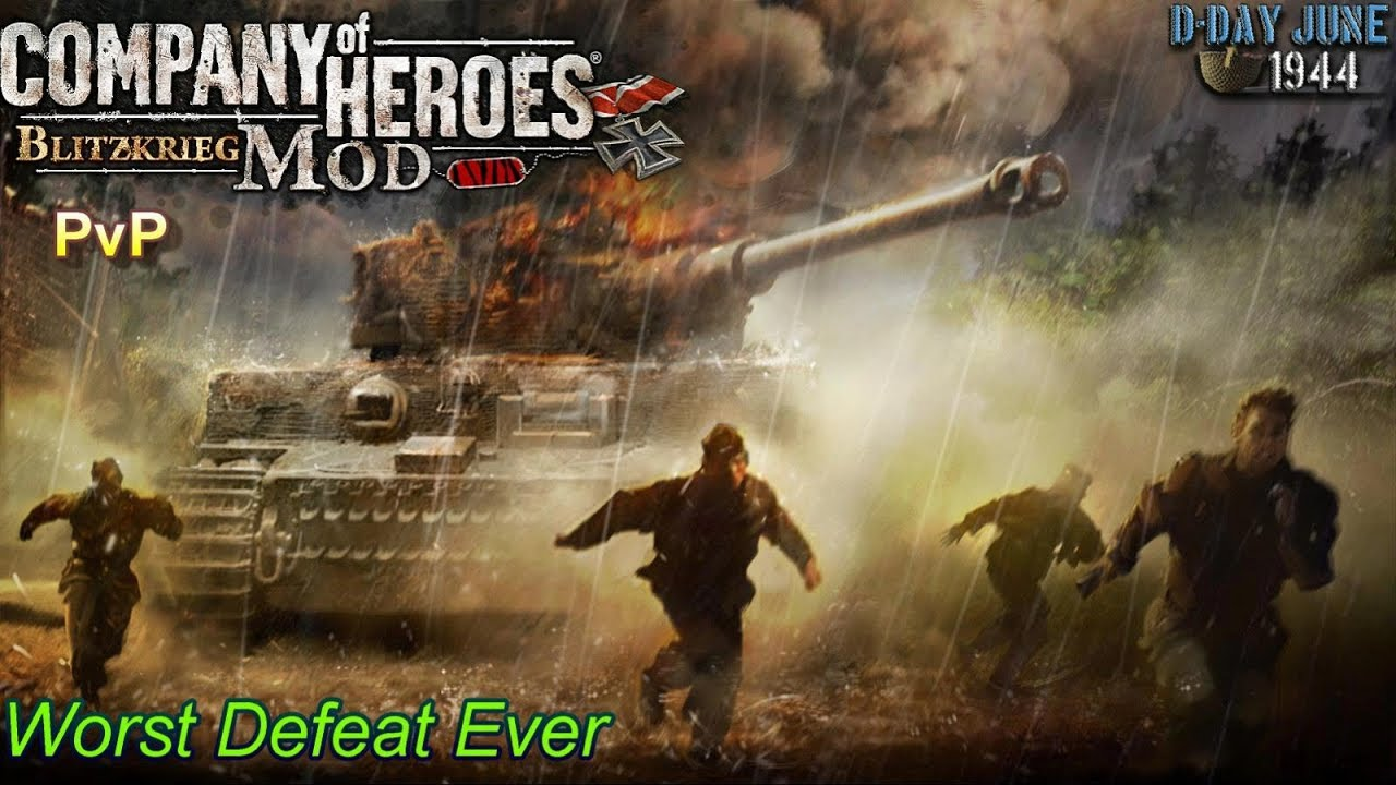 CoH Blitzkrieg Mod PvP Gameplay _ worst defeat ever?
