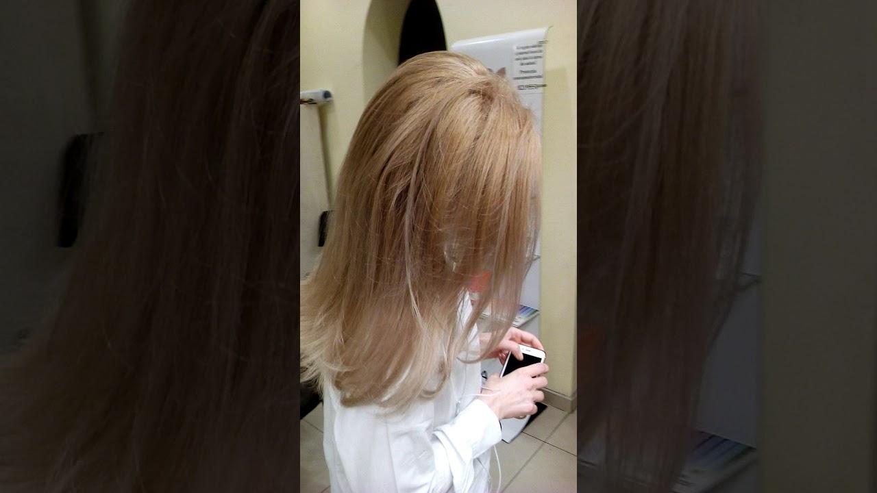 Par Lung Vopsit Nuante De Blond Perlat Tratament Cu Protein Additive