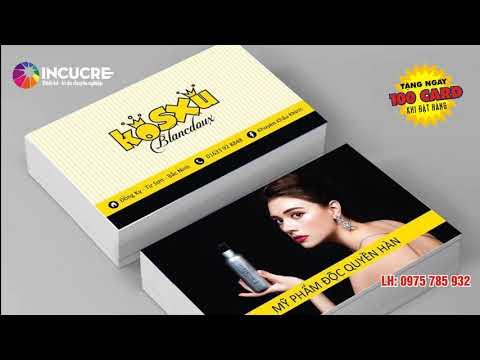Thiết kế in ấn card, thẻ các loại giá rẻ Hà Nội