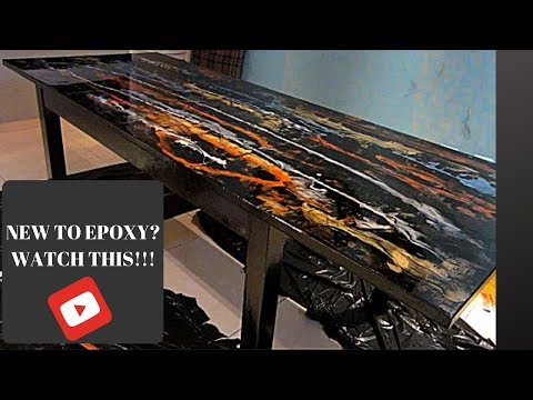 """DIY Epoxy table easy to follow"""