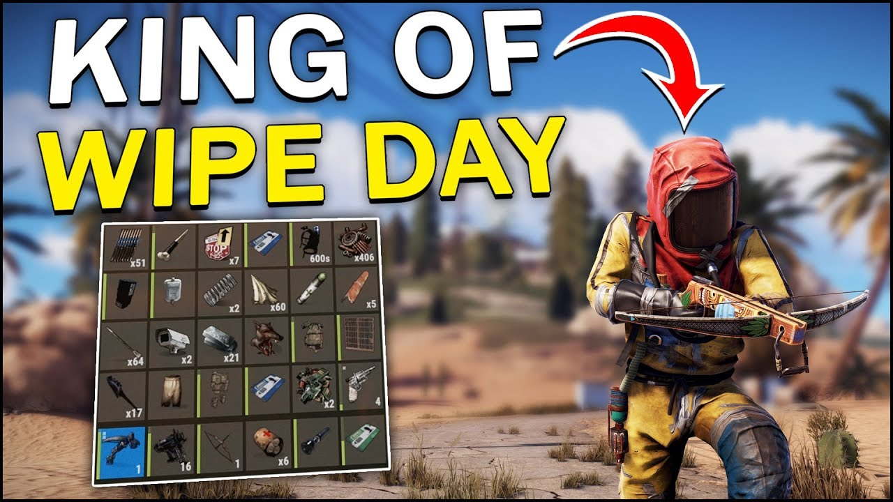 The KING of WIPE DAY! - Rust Solo #1 - YouTube