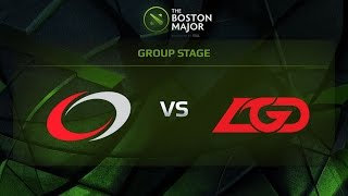 coL vs LGD, Game 2, Group C - The Boston Major