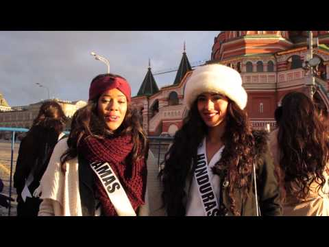Miss Universe Contestants Tour Moscow