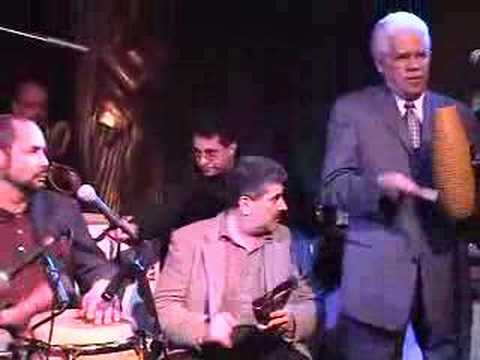 Tito Puente performs for his daughter's birthday