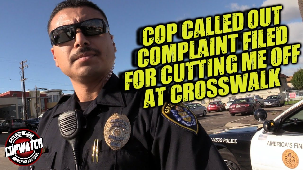 Cop Called Out & Complaint Filed for Cutting Me Off at Crosswalk | Copwatch