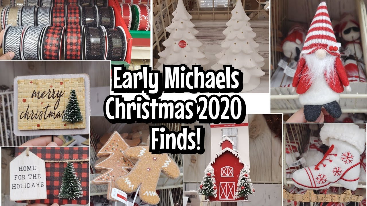 Early Michaels Christmas 2020 Decor Come With Me Youtube
