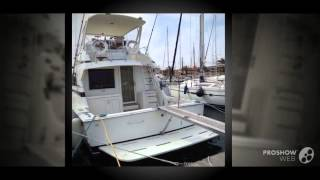 Bertram yacht 43 convertible power boat, flybridge yacht year - 1989