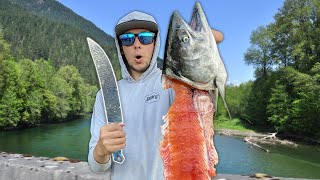 KING SALMON (Catch Clean Cook) Epic Day of Fishing!!