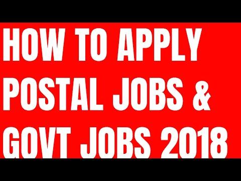 how to apply for postal jobs 2018 || govt jobs