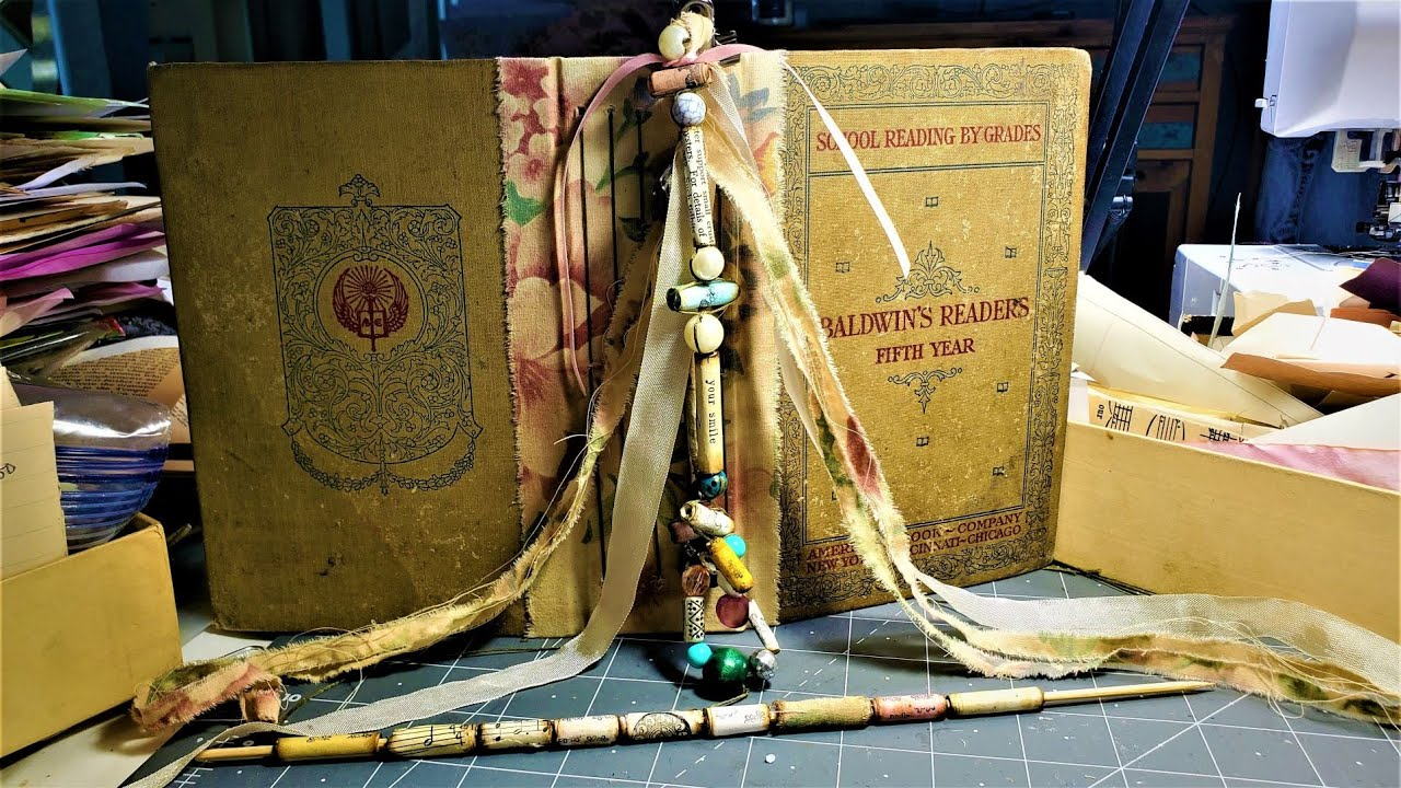 Let's Make JUNK JOURNAL JEWELRY! Easy Paper Beads & Spine Dangles! The Paper Outpost! :)
