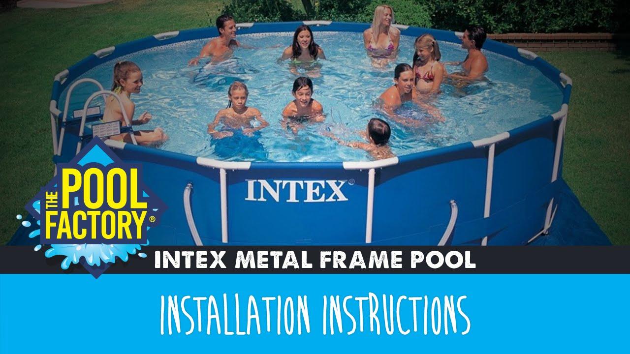Intex ultra frame above ground pool setup video youtube.