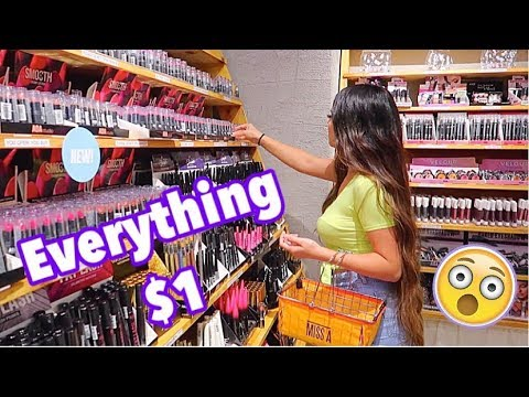 EVERYTHING IN STORE $1 DOLLAR!! HUGE MAKEUP HAUL*I WAS SHOOK*