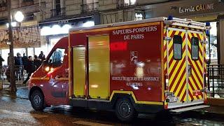 Pompiers de Paris Nouveau VSAV Cube En Urgence . Paris Fire dept new Ambulance responding