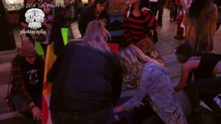 Man Runs Over Columbus Day Protesters Blocking The Street