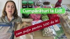 Cumpărături la Lidl (cam putin pentru 100 de lei)