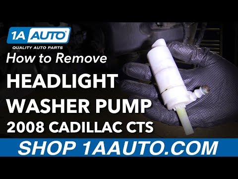 How to Remove Replace Headlight Washer Fluid Pump 2008 Cadillac CTS